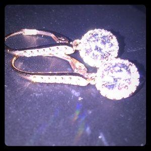 Sterling Silver/Rose Gold & Swarovski Crystals